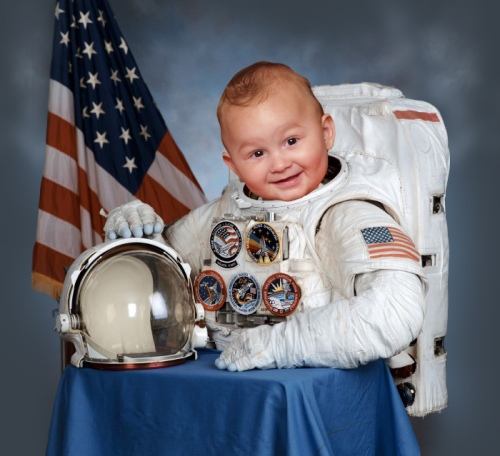 This chipper baby astronaut.