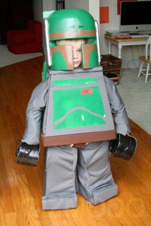 A Lego version of the bounty hunter, Boba the Fett.