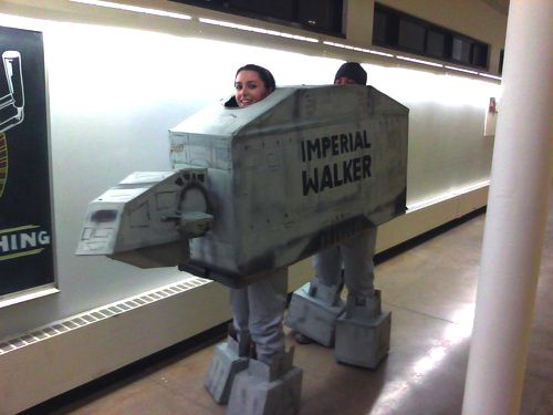 A fabulous duo Imperial AT-AT Walker outfit (bar their spelling mistake).